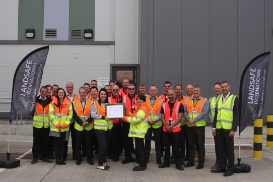 Gatwick airport with their Landsafe International accreditation award